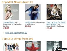Amazon MP3 screen shot