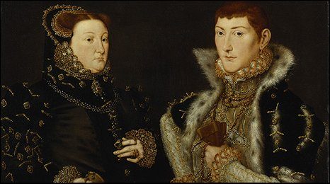 Lady Dacre, and her son, Gregory Baron Dacre