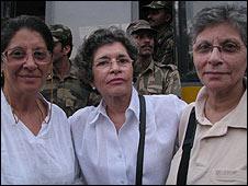 Khursheeda Mody (left) with her friends Gita and Reshne