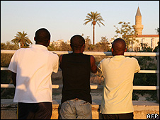 African asylum seekers in Nicosia, Cyprus