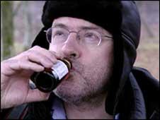 John Sweeney drinking vodka