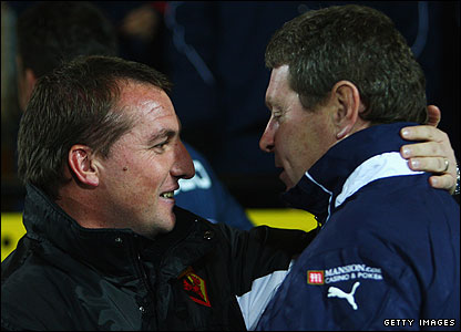 Brendan Rodgers and Clive Allen
