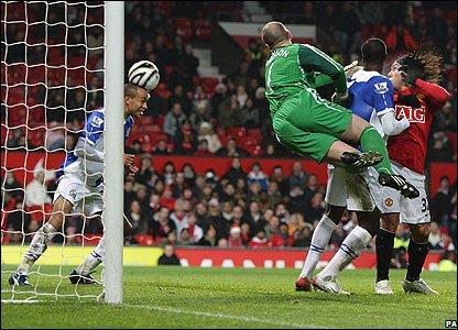 Blackburn's Martin Olsson clears off the line