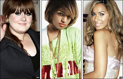 Adele, M.I.A. (Pic: XL records) and Leona Lewis