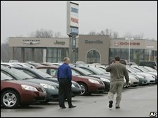 US car dealership