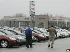 US car dealership