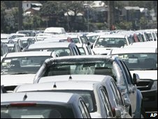 Cars waiting for buyers