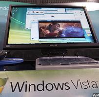 Windows Vista logo and computer