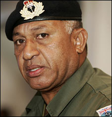 File image of Fiji's military leader, Frank Bainimarama