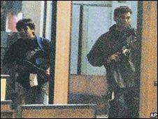 Suspected attackers in Mumbai