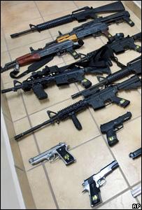 Armas decomisadas en M�xico