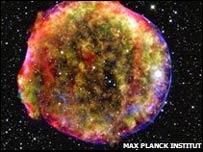 Eco de luz de supernova de Tycho