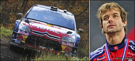 Rally car and Sebastian Loeb