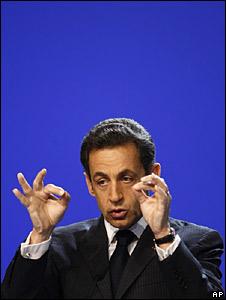 rench President Nicolas Sarkozy