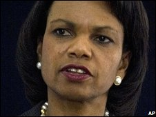 Condoleezza Rice in Rawalpindi, Pakistan, 4 December 2008