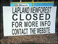 A big sign outside Lapland New Forest