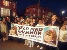 Residents during the search for Shannon