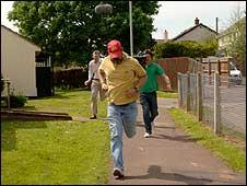 Jeremy Vine chasing Robert Manning