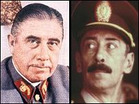 Augusto Pinochet (izq) y Jorge Rafael Videla.