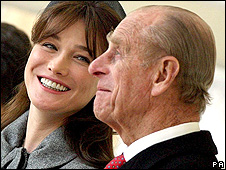 Carla Bruni and the Duke of Edinburgh
