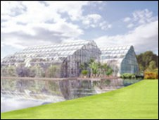 Wisley glasshouse. Picture by Colvin and Moggridge