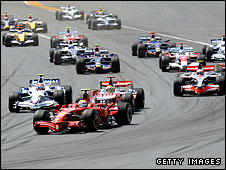 The start of the 2008 European Grand Prix