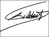 Firma de Fidel Castro