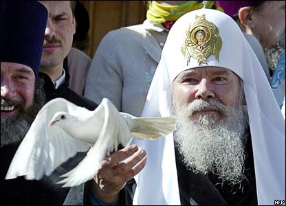 Алексий Второй, праздничная церемония в Кремле, апрель 2004