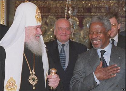 Алексий Второй и Кофи Аннан, Москва, январь 2000 года