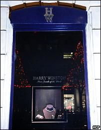 Витрина магазина Harry Winston