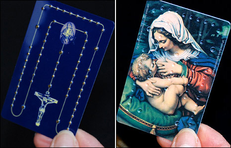 Credit card rosary