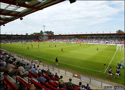 Bournemouth's Dean Court ground, where Anderton will play his final game