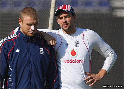 Andrew Flintoff and Steve Harmison