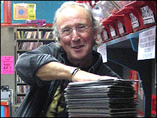 David Lashmar of Beanos record shop in Croydon