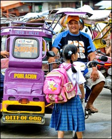 Philippine tuctuc driver and microloan borrower