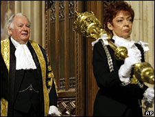 Speaker Michael Martin and Serjeant at Arms Jill Pay