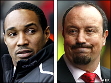 Paul Ince (left) and Rafael Benitez