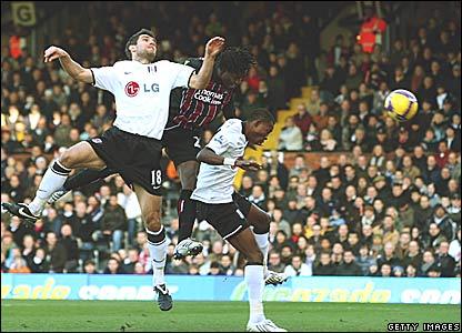 Aaron Hughes, John Pantsil, Fulham; Benjani Mwaruwari, Manchester City