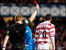Martin Canning is sent off