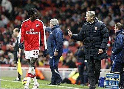 Emmanuel Adebayour, Arsene Wenger