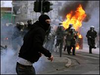 صدامات العاصمة اثينا