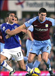 Tim Cahill, Everton; Gareth Barry, Aston Villa