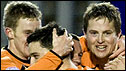 Dundee United celebrate at Inverness