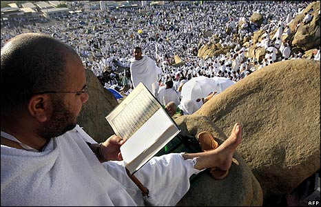 Reading Koran on Arafat