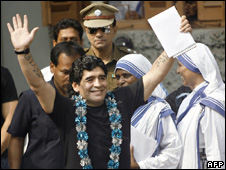 Maradona at the Missionaries of Charity