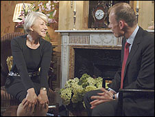 Dame Helen Mirren and Andrew Marr