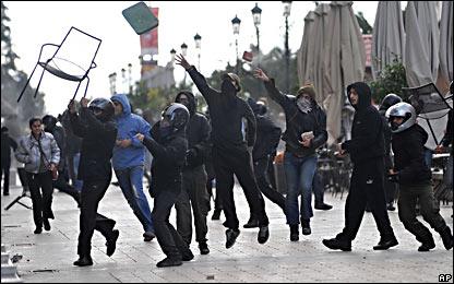 Демонстранты в салониках
