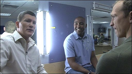 Ricky Hatton, Darren Campbell and Matt Dawson