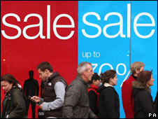 Shoppers looking for bargains in the sales