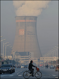 Coal power station's cooling tower, China (Image: AP)